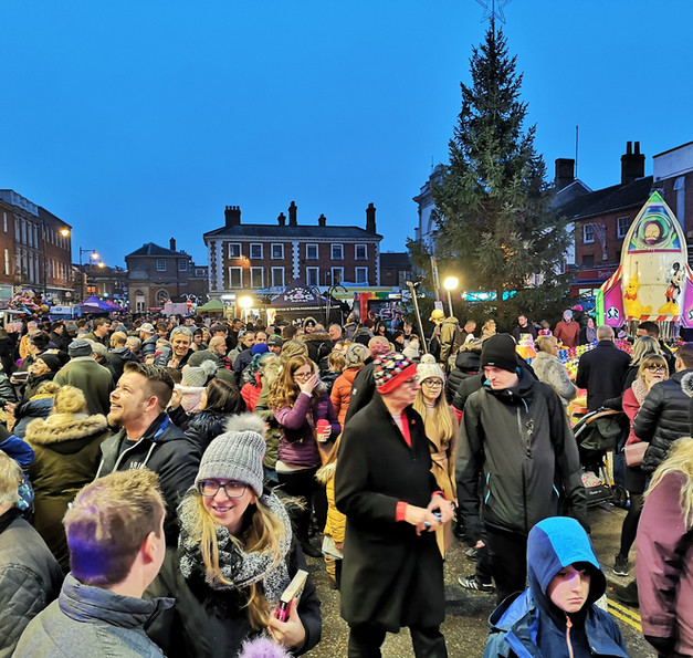 Crowd in Market Place