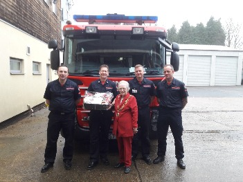 Dereham Mayor with Fire Service