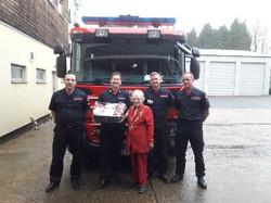 Dereham Mayor with Fire Service