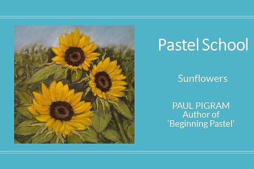 PASTEL SCHOOL Sunflowers