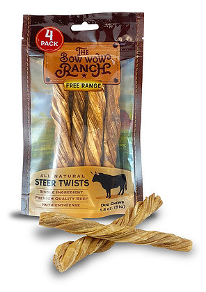 """Bow Wow Ranch 5"""" Steer Twists"""