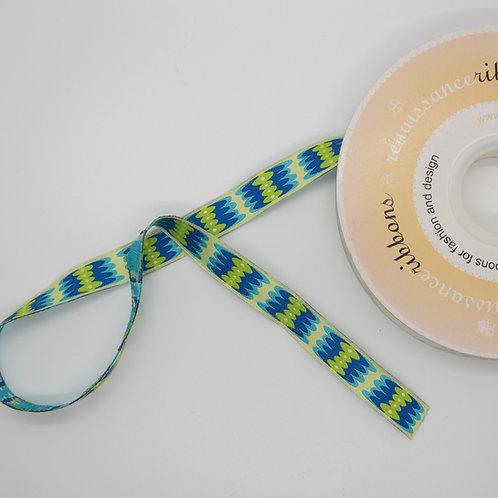 Pebble Teal & Lime Ribbon