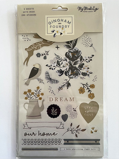 Gingham Foundry Sticker Sheets