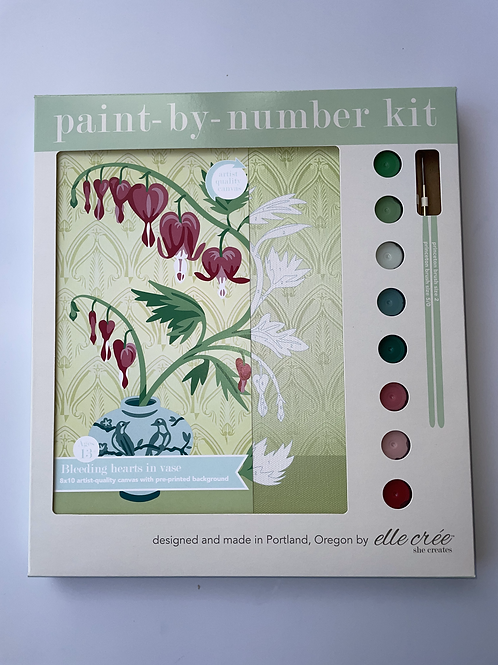 Bleeding Hearts Paint by Number Kit