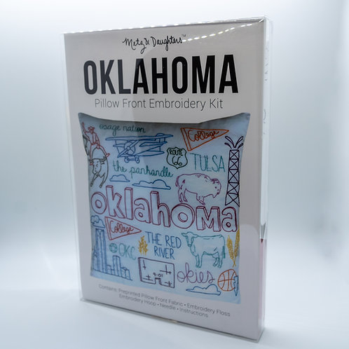 Metz & Daughters Oklahoma Pillow Front Embroidery Kit
