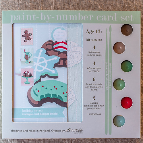 Holiday Sweets Paint by Number Cards Set