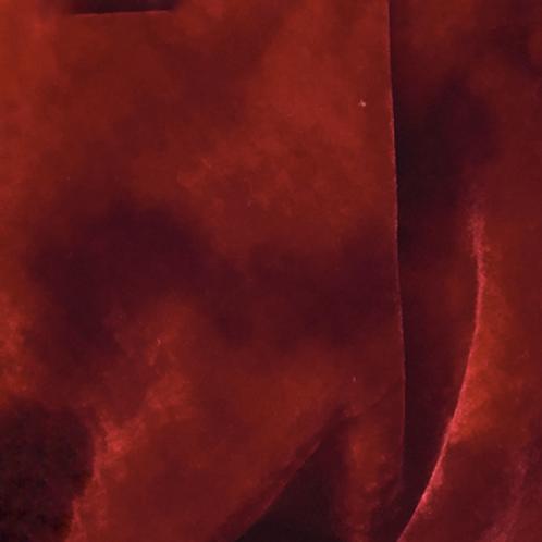 Red/Pink Hand dyed Silk Velvet