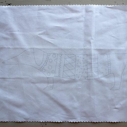 Noodle & Lou Lou Embroidery Pattern