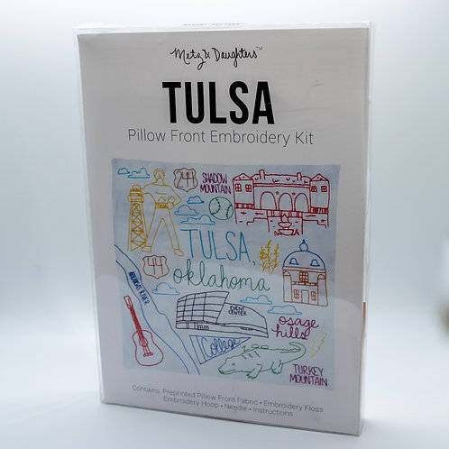 Metz & Daughters Tulsa Pillow Front Embroidery Kit