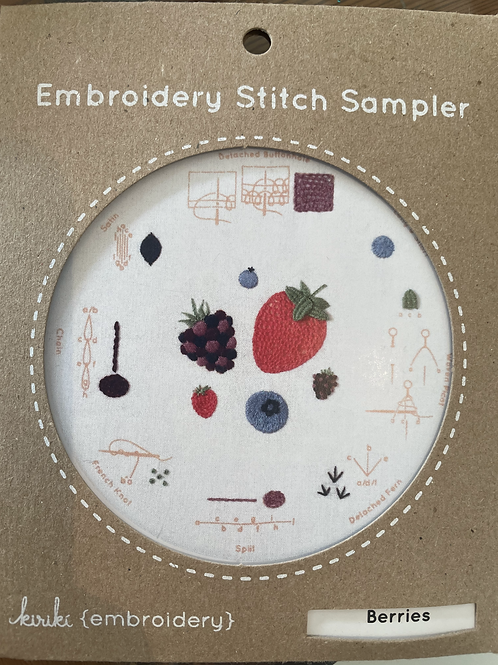 Berries Embroidery Stitch Sampler