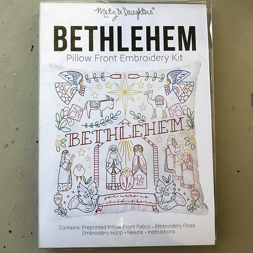 Metz & Daughters Bethlehem Pillow Front Embroidery Kit