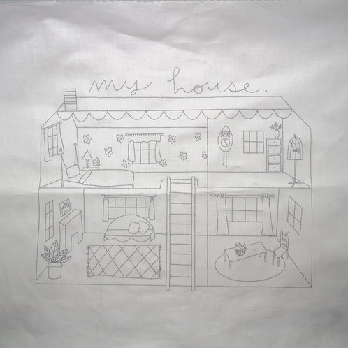 Noodle & Lou My House Embroidery Pattern