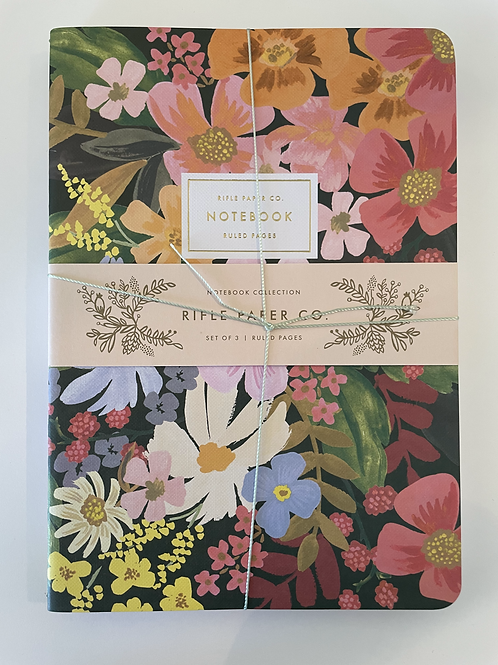 Rifle Floral 3 Pack Assorted Notebooks