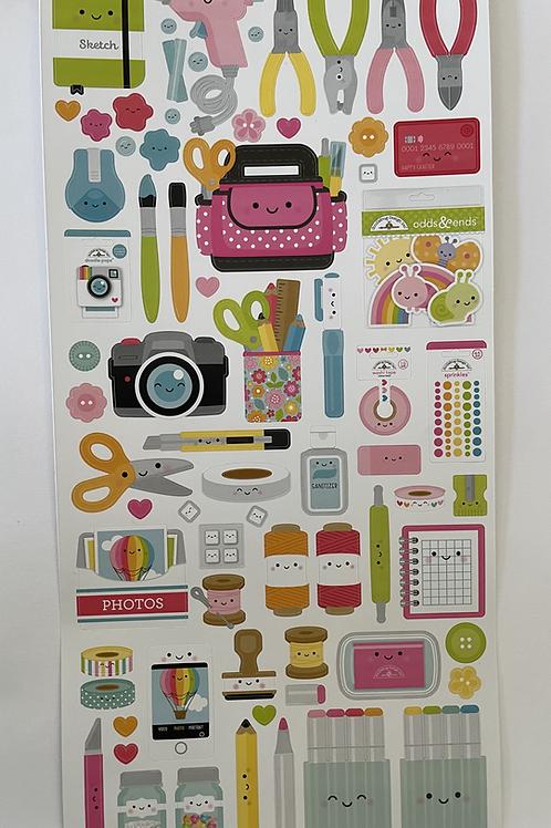 Cardstock Sticker Sheet- Cute&Crafty