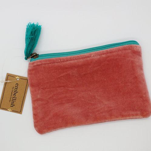 Velvet Pouch with Tassel Small
