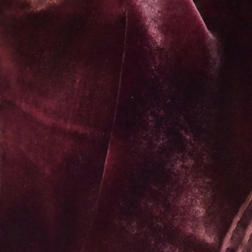 Purple Hand Dyed Silk Velvet