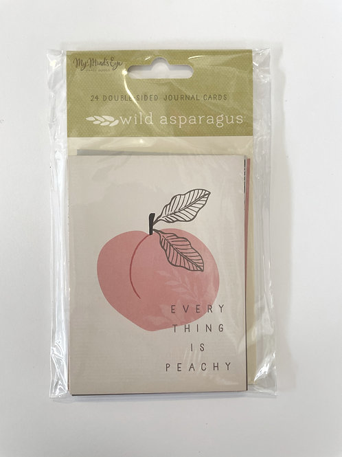 Wild Asparagus Double Sided Journal Cards
