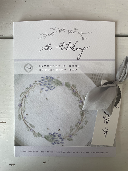 Lavender & Bees Embroidery Kit By The Stitchery