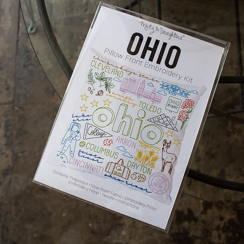 Ohio Pillow Front Embroidery Kit