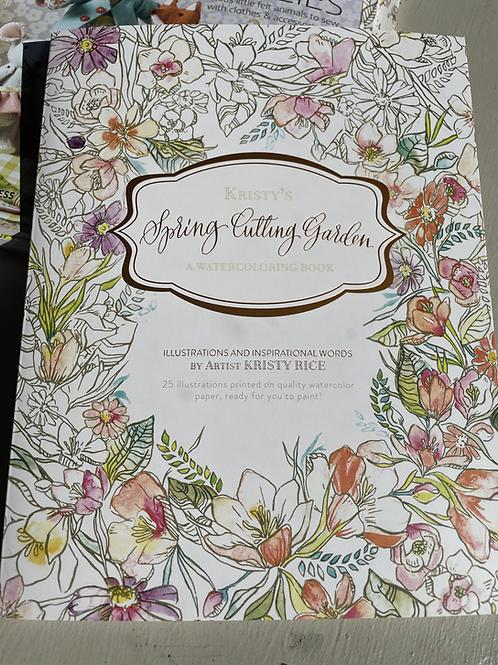 Spring Cutting Garden Watercoloring Book