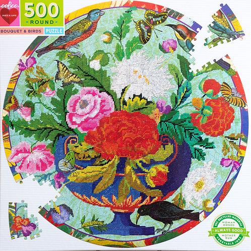 Bouquet & Birds 500 Piece Puzzle