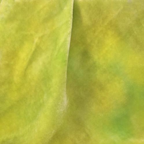 Green Hand Dyed Silk Velvet