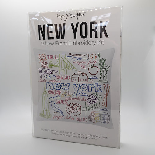 Metz & Daughters New York Pillow Front Embroidery Kit