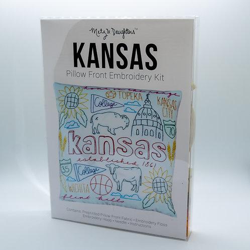 Metz & Daughters Kansas Pillow Front Embroidery Kit