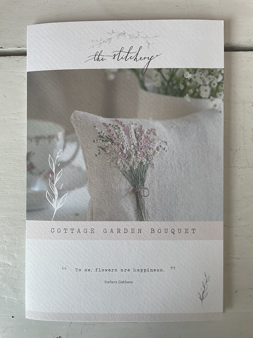 Cottage Garden Bouquet Embroidery Kit by The Stitchery