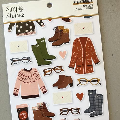 Simple Stories Cozy Days Stickerbook