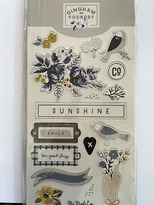 Gingham Foundry Chipboard Elements