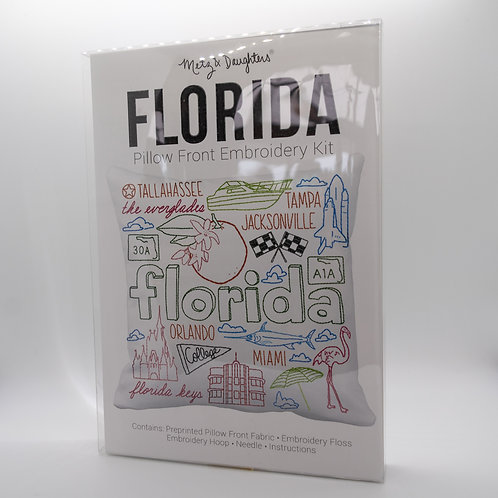 Metz & Daughters Florida Pillow Front Embroidery Kit
