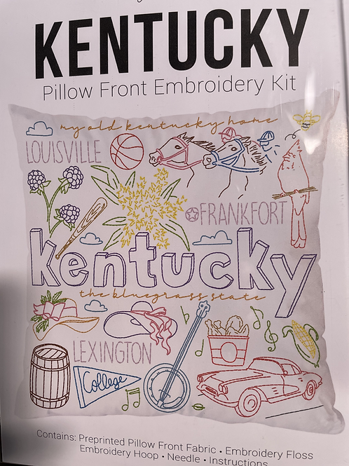 Kentucky Pillow Front Embroidery Kit