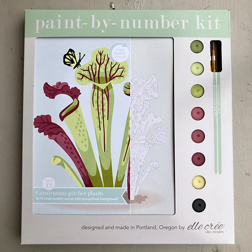 Carnivorous Pitcher Plants Paint By Number