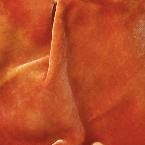 Orange/Yellow Hand Dyed Silk Velvet