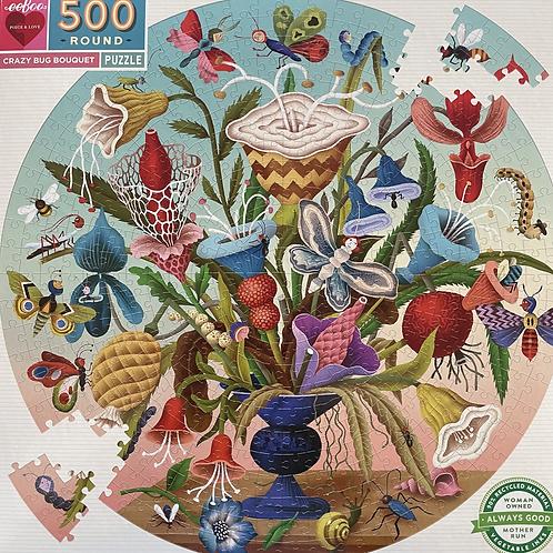 Crazy Bug Bouquet 500 Round Puzzle