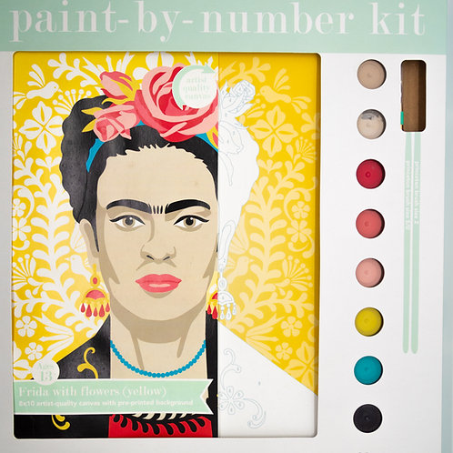 Yellow Frida Paint by Number