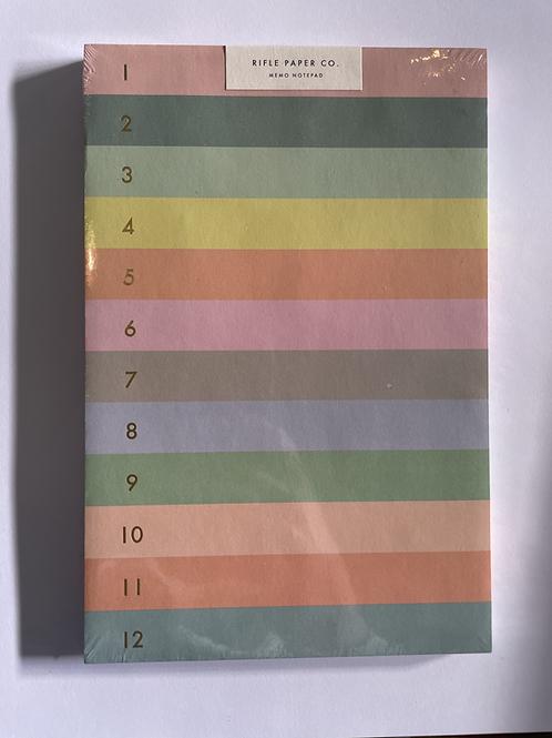 Rifle Numbered Memo Pad