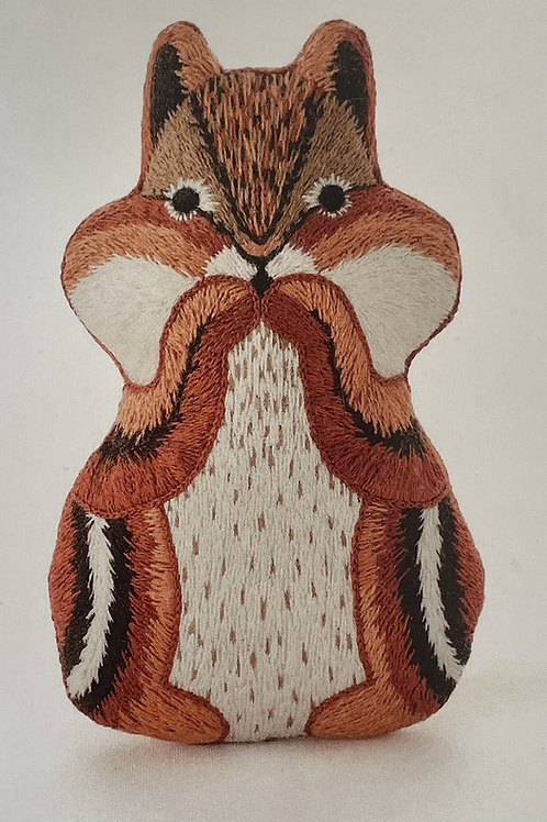 Chipmunk D.I.Y Embroidered Doll Kit
