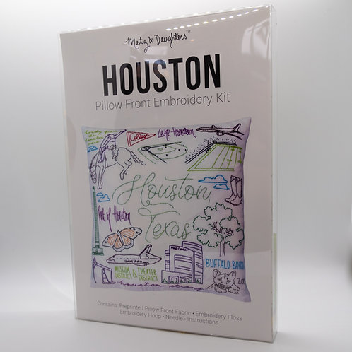Metz & Daughters Houston Pillow Front Embroidery Kit