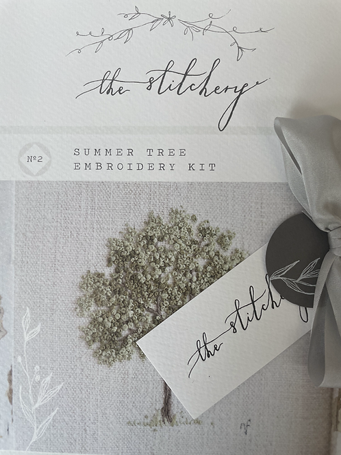 Summer Tree Embroidery Kit By The Stitchery