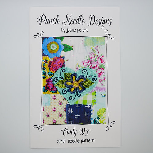 "Jackie Peters ""Curly Q's"" Punch Needle Pattern or Kit"
