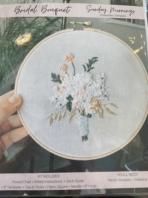 Bridal Bouquet Embroidery kit