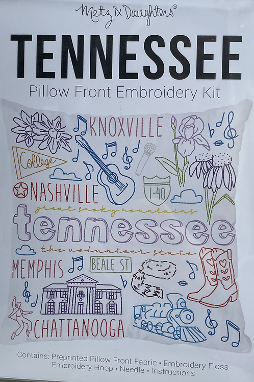 Tennessee Pillow Front Embroidery Kit
