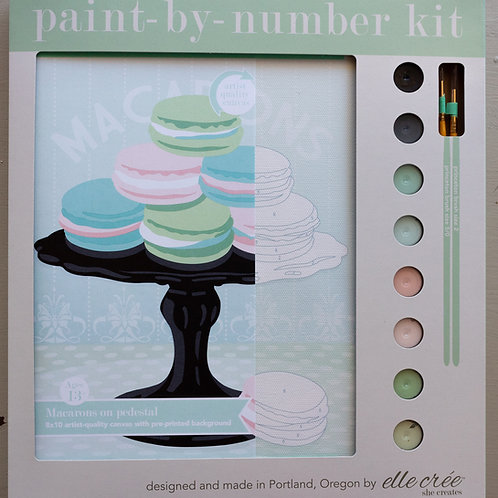 Macarons on Pedestal Paint by Number