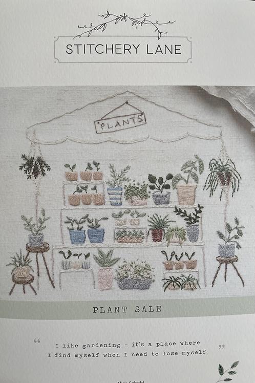 "Stitchery Lane ""Plant Sale"" embroidery kit"