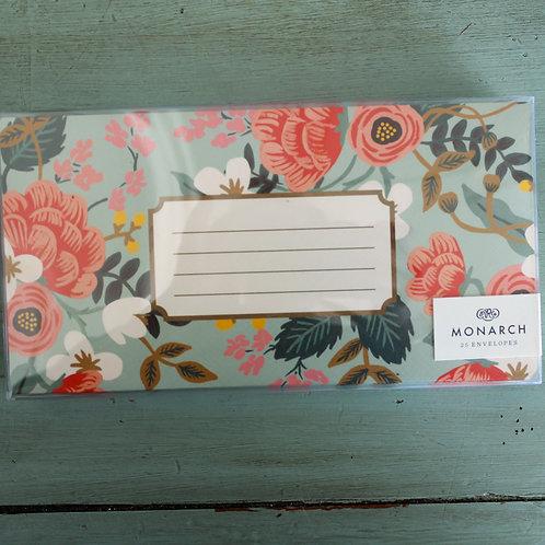 Rifle Paper Mint Birch Monarch Envelope Set