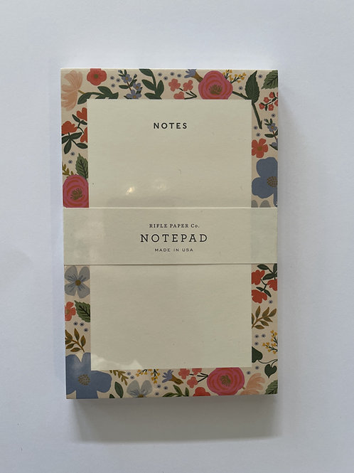 Rifle Blank Floral Notepad