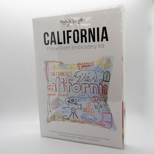 Metz & Daughters California Pillow Front Embroidery Kit