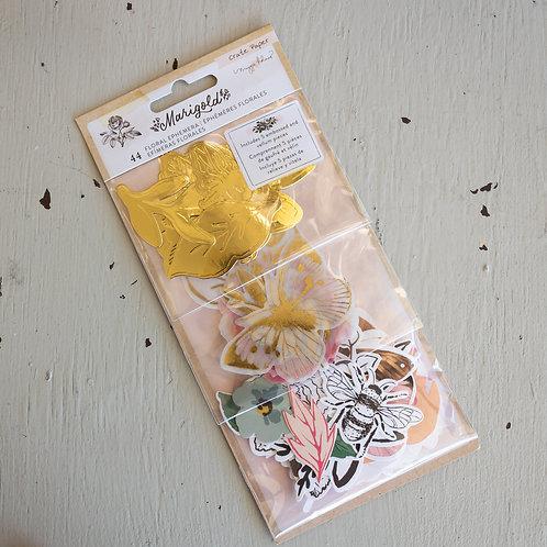Marigold Floral Ephemera